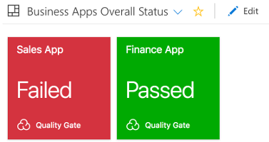 Quality Gate Widget